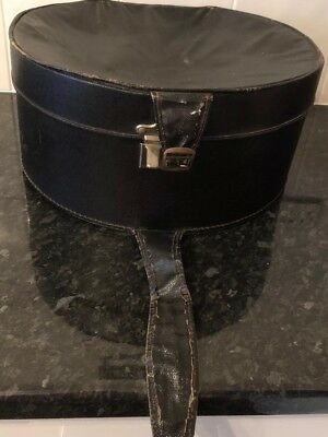 Large Vintage Leather Hat Box