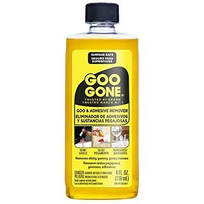Goo Gone Adhesive Grease Stickers Solvent Removes Cleaner Cleaning Tar Gum