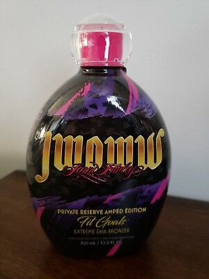 """New """"Private Reserve Amped Edition Fit Goals"""" By JWOWW Tanning Lotion W/SAMPLES"""