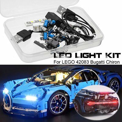 LED Light Lighting Kit ONLY For LEGO 42083 Bugatti Chiron Technic USB Interface