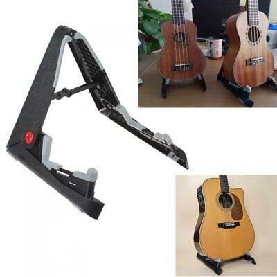 Black Portable Folding Guitar Stand For Acoustic Guitar Stand Storage