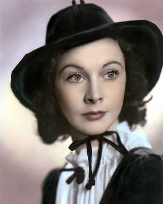 """VIVIEN LEIGH ENGLISH ACTRESS HOLLYWOOD MOVIE STAR 8x10"""" HAND COLOR TINTED PHOTO"""