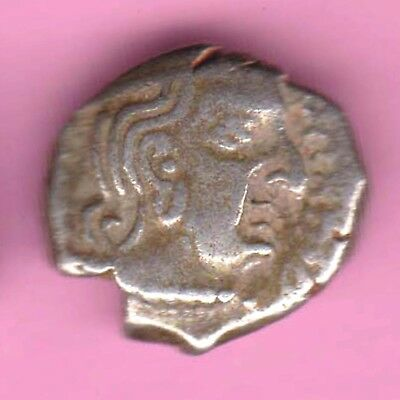 Ancient India-Kumar Gupta-King's Portrait-Drachm-Rarest Silver Coin-65