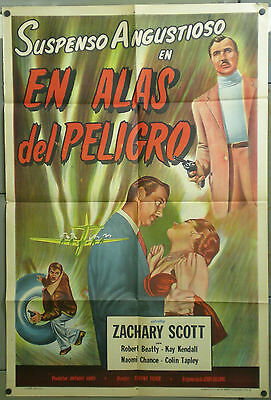 TN93D WINGS OF DANGER TERENCE FISHER ZACHARY SCOTT KAY orig 1sh POSTER ARGENTINE