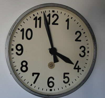 CHRONOTECHNA Vintage Metal Industrial Clock Factory 33 cm