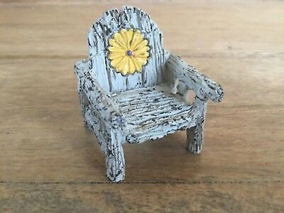 Fairy Garden Itty Bitty Rustic Daisy Chair Miniature Furniture Accessory