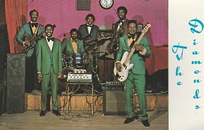 The Diamonds•1960's American Performers•Club Band•Advertising Postcard 4x6