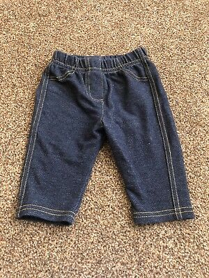 Denim Blue Jeans Style Leggings Jeggings TrousersBaby Girls 0-3 Months