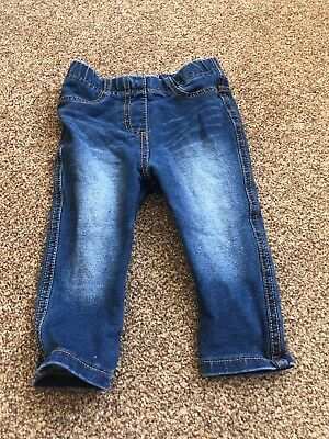 Next Blue Denim Jeans  Leggings Jeggings Trousers Baby Girls 6-9 Months