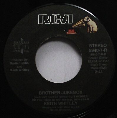 Country 45 Keith Whitley - Brother Jukebox / I Wonder Do You Think Of Me sur Rca