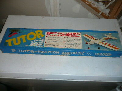 Relisted Top Flite Tutor CL aerobatic trainer model airplane kit N-14, Excellent