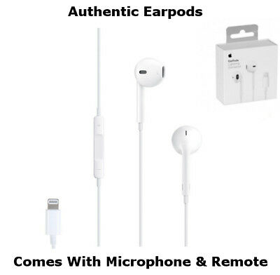 a69579f35c4 Authentic Apple Lightning Connector Earpods Headphones iPhone 7 Plus 8+ X  Remote