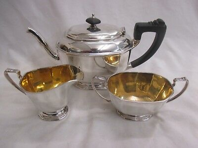 Vintage William Suckling Kingsway EPNS Silver Plate Tea Pot Milk Sugar