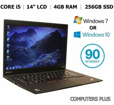 "Lenovo X1 Carbon, 14"" Laptop, Core i5, 256SSD, Webcam, Win 7/10 Pro"