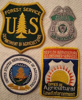 Lot Of 4 U.s. Department Of Agriculture & Forest Service Law Enforcement Patches