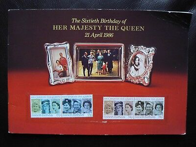 1986 THE QUEEN'S 60th BIRTHDAY - SOUVENIR BOOKLET AND MINT GB STAMPS