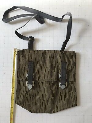 East German Army Strichtarn Rain Camo Pouch For Gas Mask