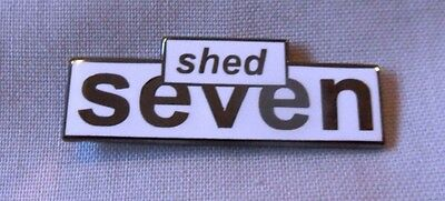 **NEW** Shed Seven enamel pin badge. Stone Roses, Oasis, Indie, Mod,