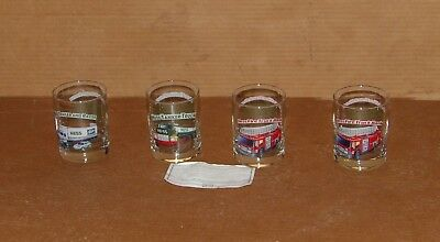 1996 Hess Toy Truck Collectors Series glasses Complete set(4)Limited edition-COA