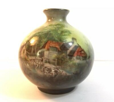 Antique Hand Painted Holland Vase