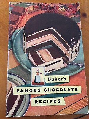 BAKER'S FAMOUS CHOCOLATE RECIPES 1st EDITION, 4TH PRINTING 64 PAGES