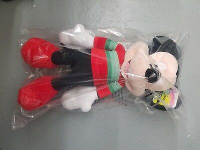 """Disney 2018 Mickey Mouse Holiday Plush 22"""" Christmas Toy Gift 100 % Authentic"""