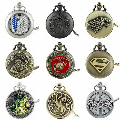 Steampunk Design Antique Quartz Vintage Pocket Watch Retro Necklace Pendant Gift