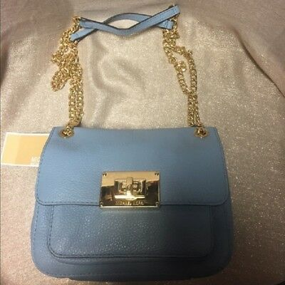 b8a24cfe8b99d NWT AUTHENTIC ADMIRAL Blue Michael Kors Small Sloan Scalloped Bag ...