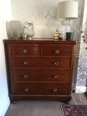 Large Antique Victorian Mahogany Chest of Drawers