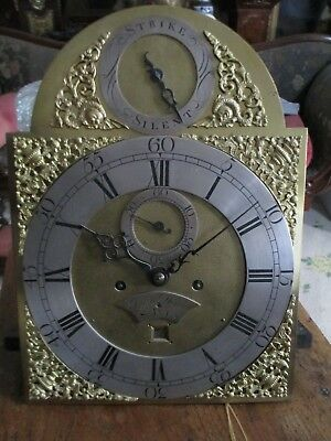 John Dison St Ives 8 day brass arched dial 5 pillar grandfather clock pagoda top