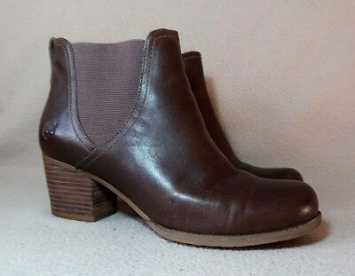 9c1c1166195d TIMBERLAND EARTHKEEPERS BRICHMONT Leather Pull on Chelsea Boots UK 7.5  EU  41