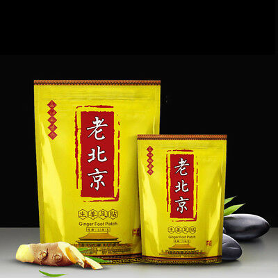 50x Relax Mood Foot Patch Detox Ginger Pads Body Toxin Feet Cleansing Herbal UUM