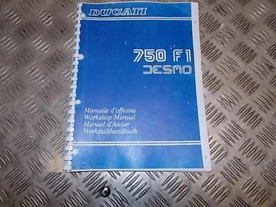 Manuale officina cartaceo Ducati 750 F1 Desmo