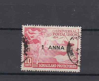 Somaliland Protectorate 1949 Upu 75Th Anniv 1A Surcharge Fine Used