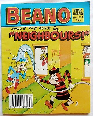 BEANO COMIC LIBRARY No 224. 1991. MINNIE THE MINX in NEIGHBOURS!