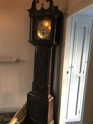 John Day Brass Face LONGCASE  GRANDFATHER CLOCK