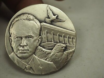 Yitzhak Rabin Sterling Silver Medal - Hero 6 Day War- Israel -
