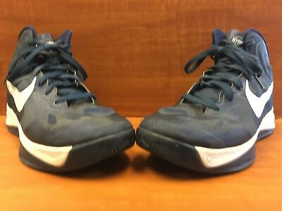 a8046b43a6f4 Nike Zoom Hyperfuse TB Navy Blue White 525019-401 Men s Size 13 Basketball  Shoes