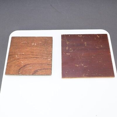 > Lot of 2 Large Format 11.5x11.5 & 13x13 Undrilled Antique Lens Boards 240