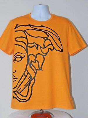 VERSACE COLLECTION COTTON CREWNECK SS MEDUSA HEAD T SHIRT BLACK XL NWT AUTHENTIC