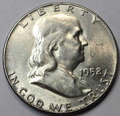 1952-P Uncirculated Franklin Silver Half Dollar
