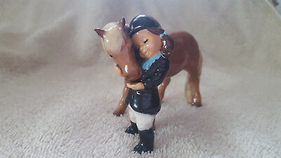 Hagen Renaker Little Girl w/Pony Specialties Figurine Horse Free Shipping 03170
