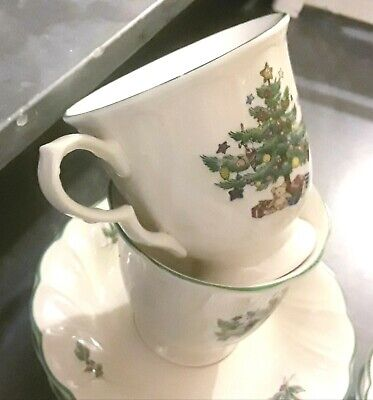 Nikko Christmastime Footed TeaCoffee Cup & Saucer