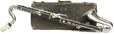 Rare Vintage Usmc Early 20Th Century H. Bettoney Bass Clarinet Look!!!