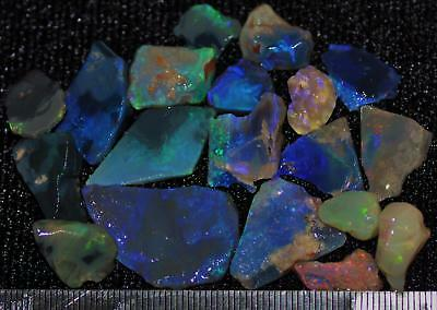 100 Cts Solid Gem Quality Lightning Ridge Rough And Rough Rubbed Opal Parcel 59