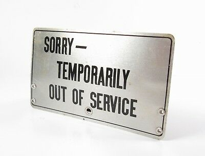Vintage BELL System - SORRY - Temporarily Out Of Service - Telephone Plaque Sign