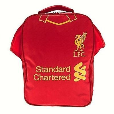 Official Football Liverpool Fc School Lunch Kit Bag Box  Packed Lunch Red Lfc