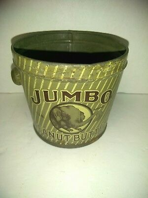 Jumbo peanut butter jar One Pound Tin Can Very Old Antique Vintage