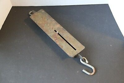 Antique Detecto #4100 Hanging Brass Spring Scale 100 Lb. Capacity