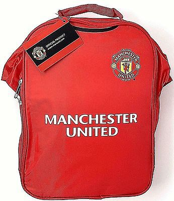 Football Manchester United Fc School Lunch Kit Bag Box Packed Lunch Mufc New Red